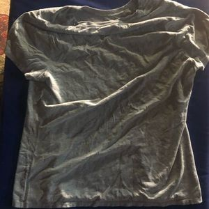 2 grey shirts, both L